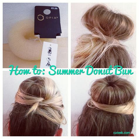 hairstyles using a bun donut how to do a donut hair bun cuteek