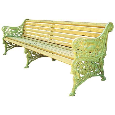 cast iron bench seat monumental 19th century cast iron squirrel garden bench