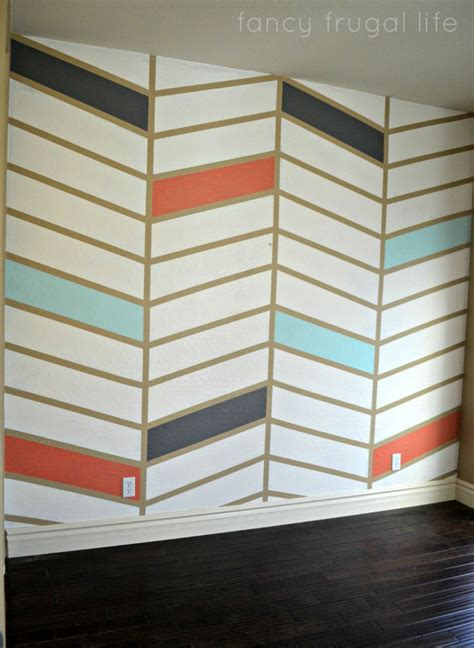chevron pattern accent wall herringbone pattern painted accent wall using tape fancy