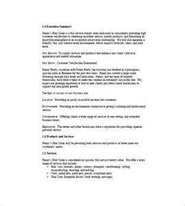 day spa business plan template sle business plan for a salon and spa