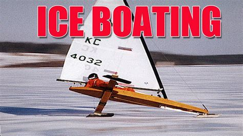 fan boat on ice ice boating fun youtube