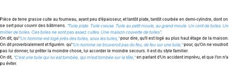 Tuile Synonyme by Tuile La D 233 Finition