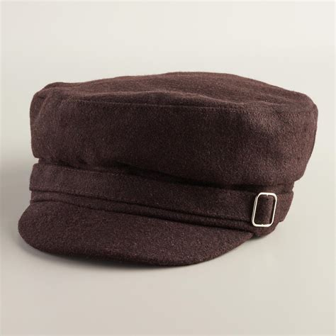 Buckle Hat brown newsboy with buckle hat world market
