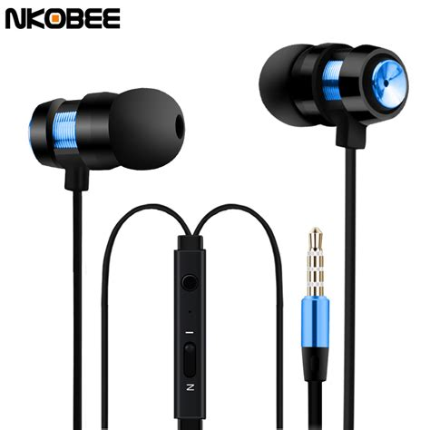 Headset Samsung Plus ear phones nkobee m7 in ear earphone for phone earbuds sport earphone headset earphones for