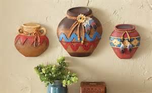 southwest pottery wall decor set
