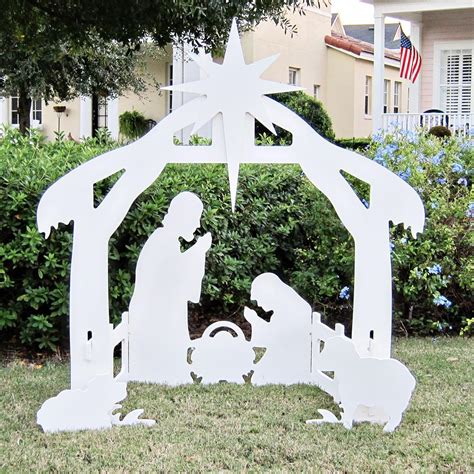 christmas nativity scene 50 quot silhouette nativity outdoor