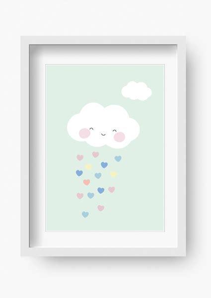 kinderzimmer bild mint bilder kinderzimmer poster kinderbild wolke mint mint