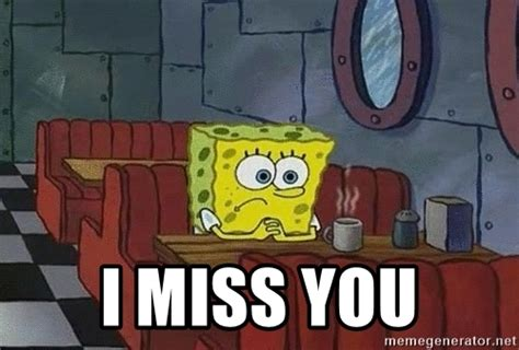 Spongebob Patrick Meme Generator - i miss you coffee shop spongebob meme generator