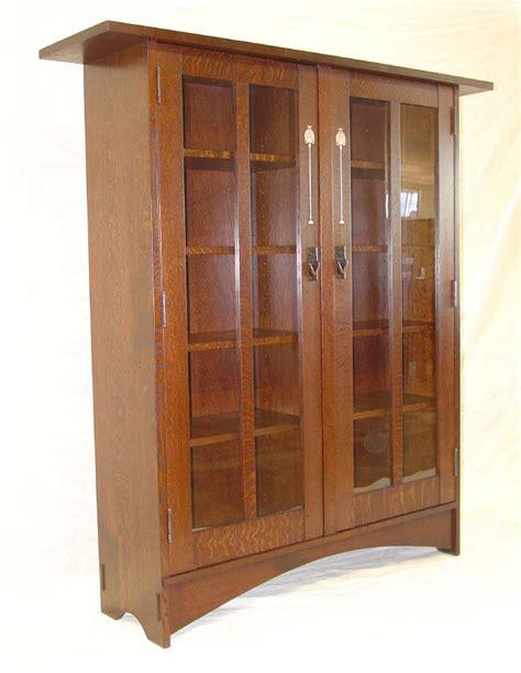 Harvey Ellis Bookcase voorhees craftsman mission oak furniture gustav stickley harvey ellis inspired two door