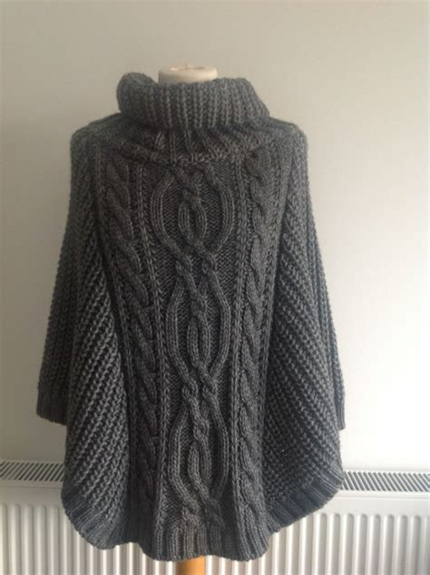 knitted poncho for front chunky knit poncho my wannabe style