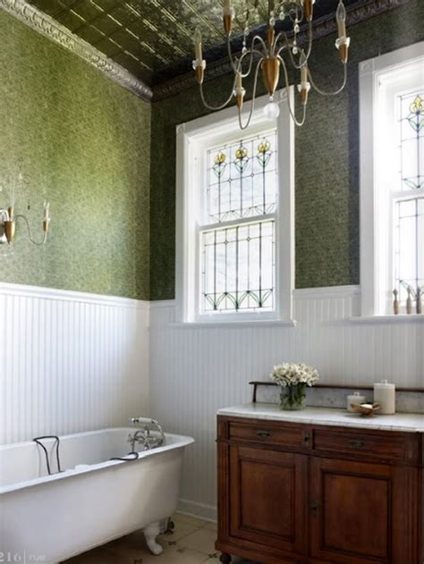 Tin Ceiling In Bathroom by Mad About Decorated Ceilings