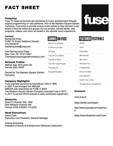 press fact sheet template backfilecloud
