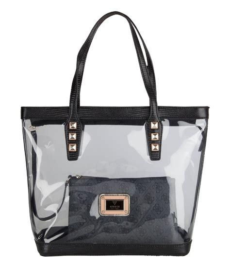 Guess Original Laptop Bag clear handbags transparent tote bags
