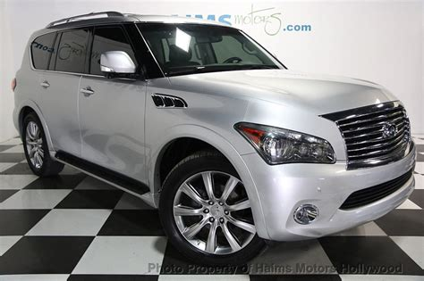 how make cars 2012 infiniti qx56 parking system 2012 used infiniti qx56 2wd 4dr 7 passenger at haims motors serving fort lauderdale hollywood