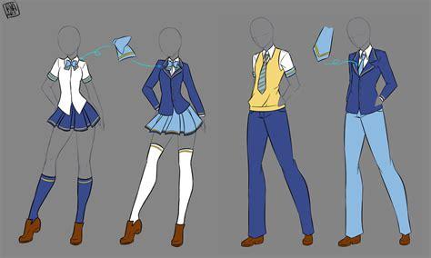 design clothes school divise ganbatte otaku by irinafestner94 deviantart com on