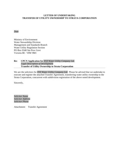 ownership transfer letter examples templates