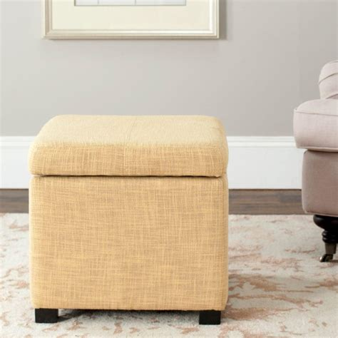 Gold Storage Ottoman Safavieh Gold Storage Ottoman Hud8228d The Home Depot