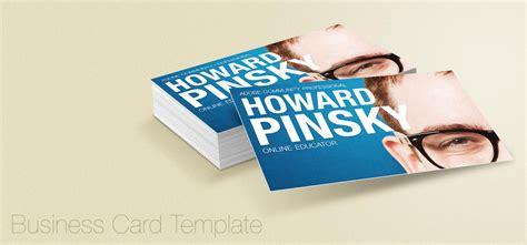 business card display psd template