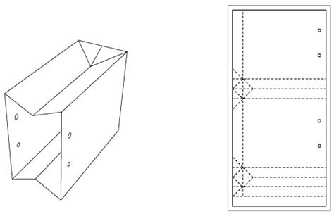templates for boxes and bags die cutting image of paper bag template no 01 diy ps
