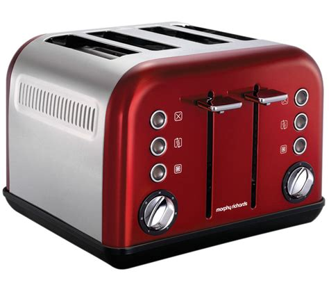 Morphy Richards Accents Toaster Buy Morphy Richards Accents 242004 4 Slice Toaster Red
