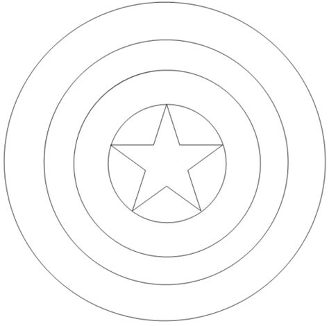Captain America Shield Coloring Pages Color Americas sketch template