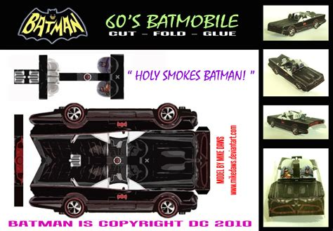 Batmobile Papercraft - batman 60 s batmobile by mikedaws on deviantart