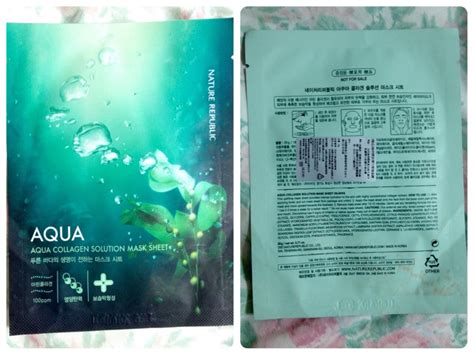 Masker Nature Republic review nature republic aqua collagen solution mask sheet