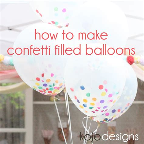 How To Make A Paper Balloon Fly - how to make confetti filled sprinkle balloons