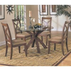 Round Glass Dining Room Sets by Homelegance Star Hill 5 Piece Round Glass Dining Room Set