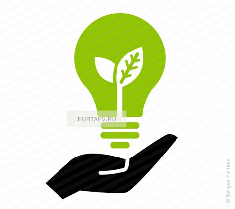 ecology light bulb on hand icon vector free download