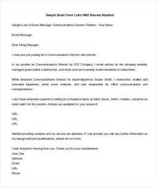 Covering Message Template by Email Cover Letter Template Template Idea