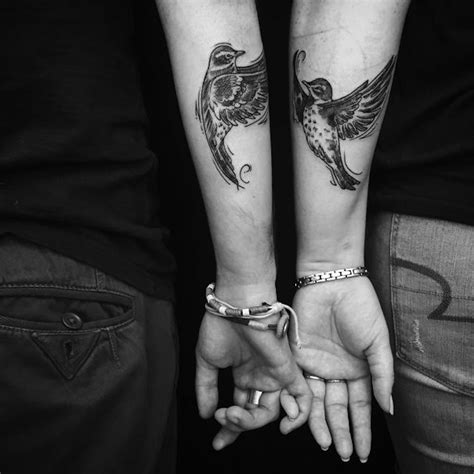 couple tattoo photography black and white 16 inspiring couples who chose matching wedding tattoos