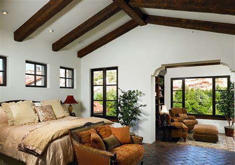 Open Floor Plans With Vaulted Ceilings 10 bedroom interior with roof beam design ideas