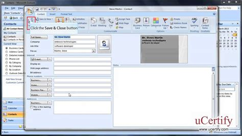 How To Create A Business Card In Outlook