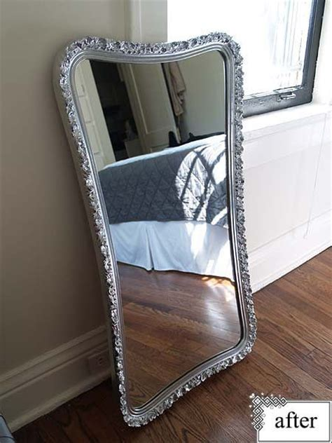 spray paint mirror before and after mirror silver spray paint sprays and