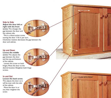Cabinet Door Hinges How To Adjust A Cabinet Door Hinge Adjust Cabinet Doors