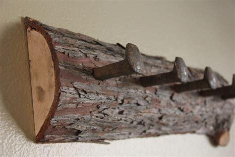 Railroad Spike Coat Rack by Cedar Log Coat Rack With Railroad Spikes