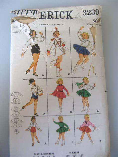vintage majorette pattern vintage girls dance skate majorette costume sewing
