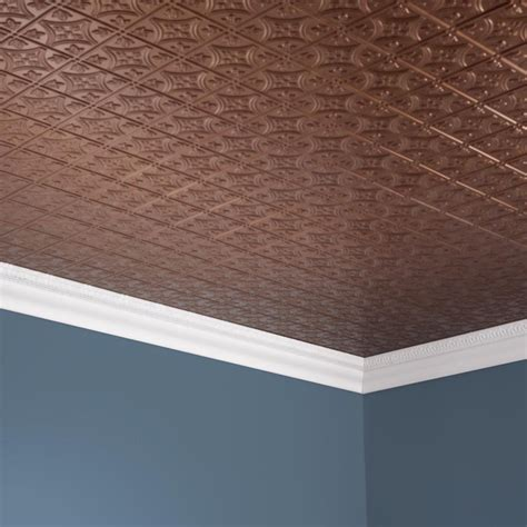 ceiling tiles fasade ceiling tile 2x4 direct apply traditional 1 in antique bronze
