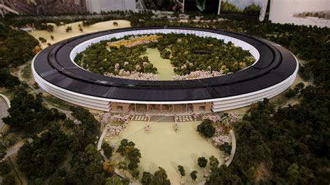 Steve Jobs Home Interior by Official Apple Spaceship Campus Model Makes Its Debut