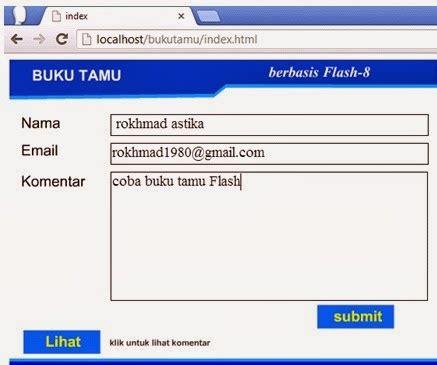 membuat database buku tamu dengan xp tutorial membuat buku tamu full flash data tersimpan di