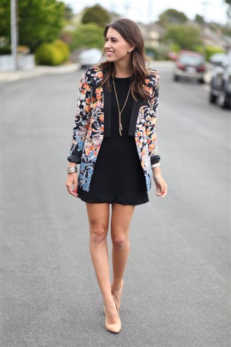 Jaket Converse Turkis picture of a black dress a floral blazer and