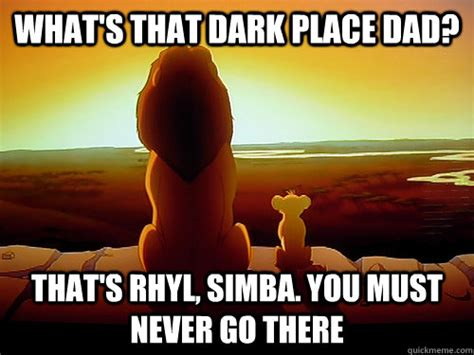 Lion King Schenectady Meme - what s that dark place dad that s rhyl simba you must
