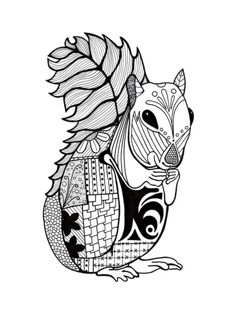 intricate coloring pages intricate squirrel coloring page favecrafts