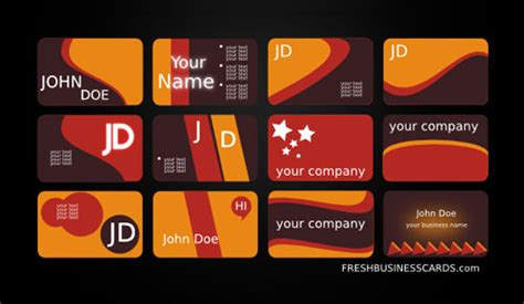 28 free adobe illustrator vector business card templates