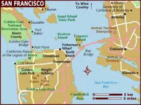 san francisco in california map maps jen s luck club