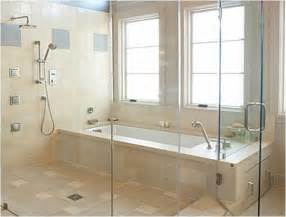 Walk in shower and tub create a universal design wet room