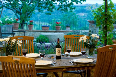 What Is A Backyard Garden Settled In Tuscany Villa Tour Dining Terrace