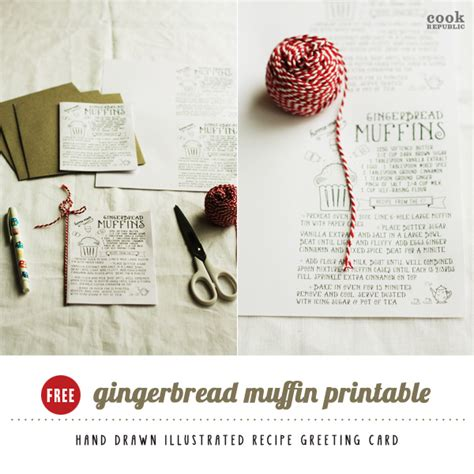 gingerbread recipe card template gingerbread muffins cook republic