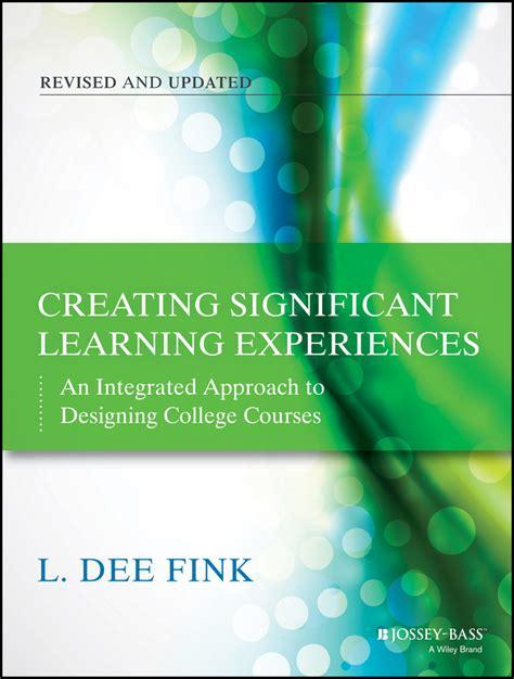 book layout course resources dee fink associates